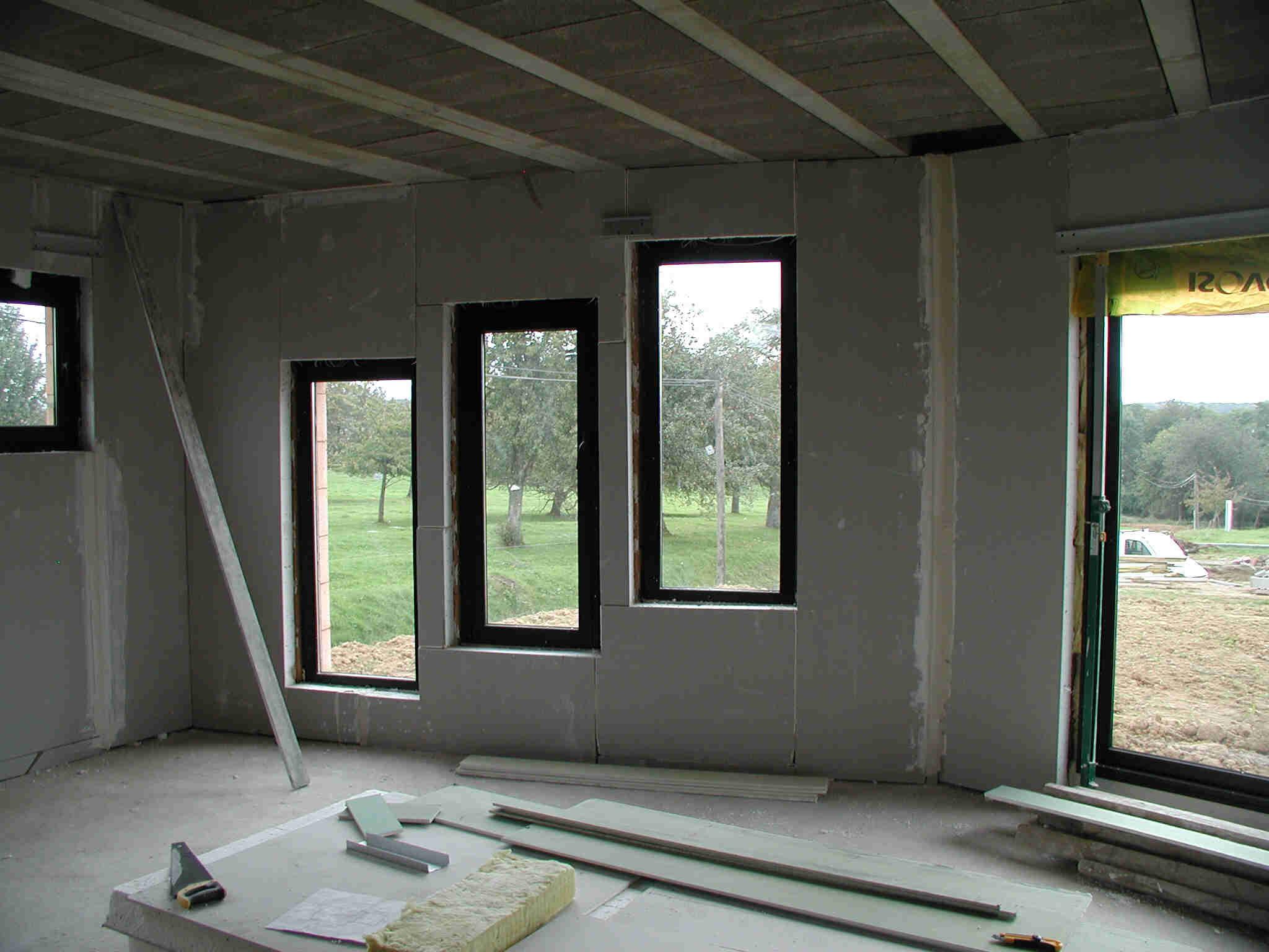 Pl tre for Cloison interieur placo